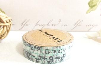 Maths Washi tape - bullet journal - happy planner - special event - keepsake scrapbook