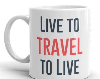 Travel Coffee Mug, Coffee Travel Mug, Travel Coffee Cup, Adventure Mug, Explore Cup, Wanderlust Quote, Adventure, Passport, Jetsetter Mug