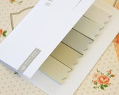 01 Beige Four Season Colours deco sticky notes tabs