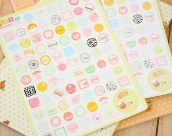 Ice Cream Mini Factory cartoon stickers