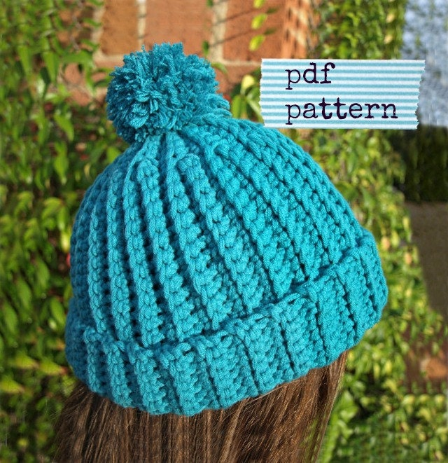 Beginner Crochet Patterns Beanie : Easy crochet pattern for beginners Beanie pattern Child Hat