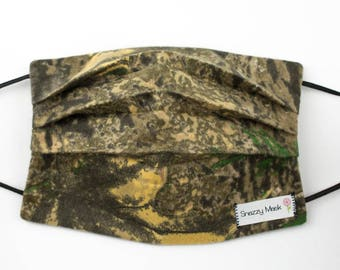 Camo Print - Hunter's Camo - Camo Face Cover - Face Mask - Warm Face Mask - Outdoor Mask - Flannel Face Mask - Flannel Mask - Tree Camo