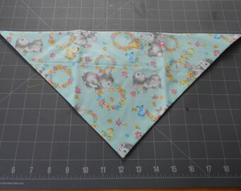 Easter Dog Bandana, Neckerchief, Bunny, Flower,Duckling, Bluebird