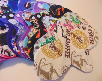 Set of 5 Reusable Cotton Full Size Panty Liner, Choose Your Fabric, BEST PRICE! Lightweight, 4 or 6 layers, all 100% cotton flannel.