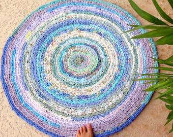 "rag rug, baby, bedding, Lilly Pulitzer bedding, ""braided"" rug, kumari garden, lavender rug, girl crib bedding, baby bedding, crib skirt #59"