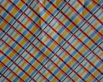 Plaid Fabric, On the Diagonal Plaid, Candace Reiter, In the Beginning Fabrics, Nearly 2 yards