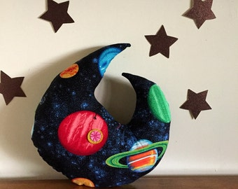 moon pillow, stuffed moon