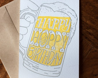 Happy Hoppy Birthday - Card