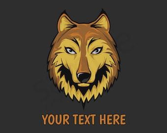 Wolf Head Custom T-Shirt - Men Women Youth Long Sleeve Personalized Tee, wolves
