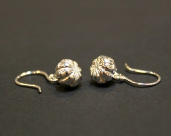Sterling Silver Pumpkin Bell Earrings