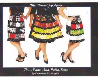 My Charming Apron Pattern Pom Poms and Polka Dots Sewing Craft
