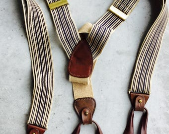 Suspenders unisex men costume Vintage UK England mad men geeks clothing rare finds Vintage costume party Wedding groom suspenders dress up