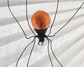 Custom Order Metallic Orange Sun Catcher Window Spider Hanging Art