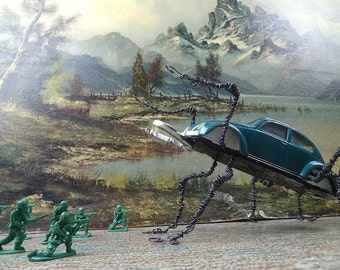 Run For Your Life! Aggressive Teal Beetle, VW Tonka Bug Come to Life!