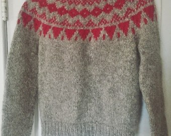 Knitted Wool Patterned Sweater