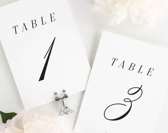 """Alison Table Numbers - 4x6"""""""