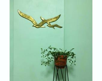 Brass Flying Birds Wall Hanging