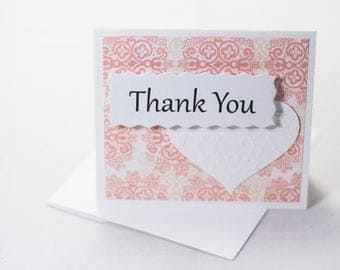 Small Thank You Note - Wedding Favor notes - Wedding Wish Notes Note002