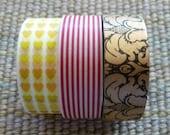 Washi Tape Bundles - Stampin' Up! Retired Washi Tape Rolls, embellishements, glitter, dots, hearts, stripes, polka dots, chevrons, solids