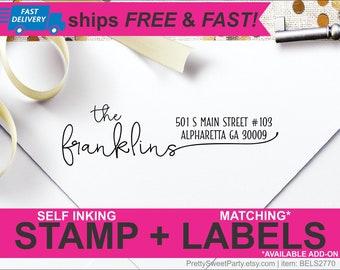 Custom Address Stamp, Self Ink Return Address Stamp, Personalized Address Stamp, Self Ink Custom Address Stamp, Family Stamp BELS2770