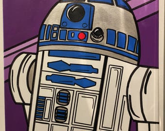 Star Wars R2-D2 original acrylic painting