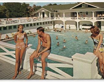 Swimming Pool Belleview Biltmore Hotel Clearwater Florida 1960s postcard
