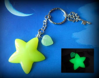 Kingdom Hearts: Paopu Fruit - glow in the dark-key chain, necklace, cell phone plug, book mark etc.