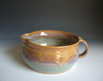 Hand thrown stoneware pottery small mixing bowl  (SMB-1)
