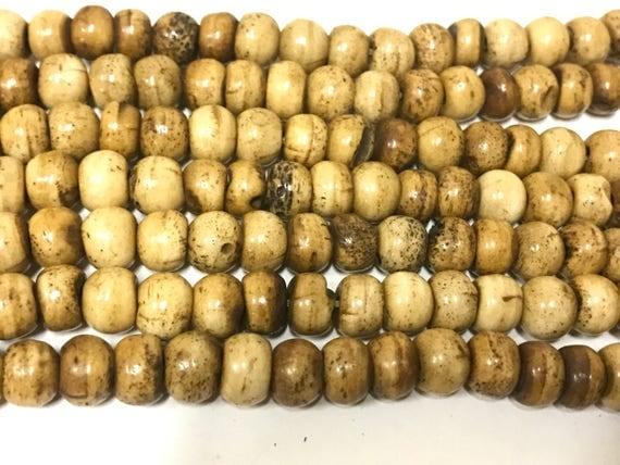 20 beads supply -  Tibetan brown color bone mala beads supply 8 mm size  - ML086C