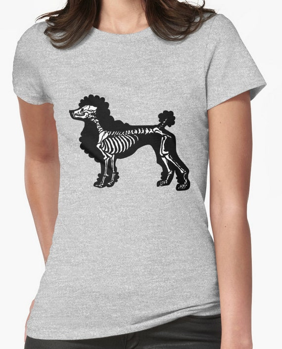 Poodle Skeleton Tee shirt for Wags and Walks Charity