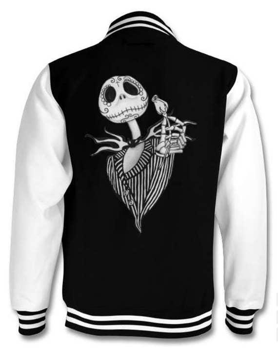 Jack Skellington Sugar Skull varsity jacket