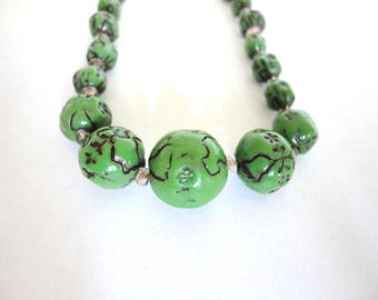 1930s Awesome Green deco Necklace