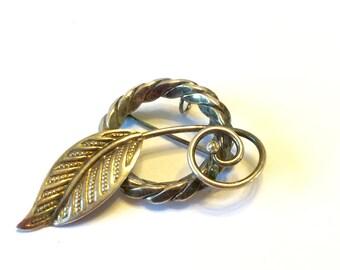 Vintage Brooch Pendant Amco Brooch  Amco Gold Pin Pendant