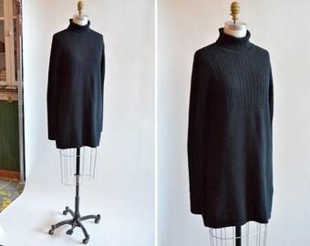 Vintage 1990 ESPRIT ANGORA wool sweater dress