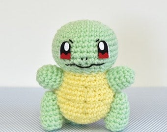 Pokemon Squirtle Crochet Amigurumi Material Kit --- Japanese Craft Kit H306-171