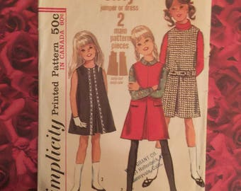 60's Vintage Child's Dress Sewing Pattern