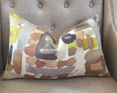 """SALE - Groundworks MORIYAMA pillow cover - 12""""x20"""" - Pattern on the front"""