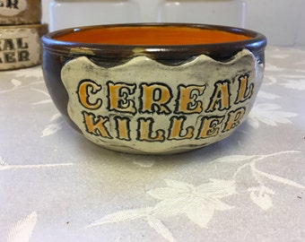 Cereal Killer Bowl. - Orange