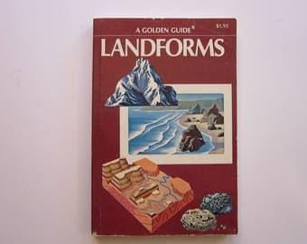 vintage Golden LANDFORMS book - a Golden Guide - circa 1971