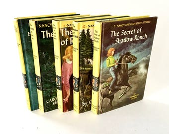Vintage Nancy Drew Books / Hardcover Vintage Nancy drew Mystery Stories