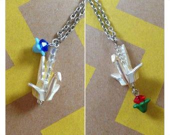 Origami Crane Charm Necklace