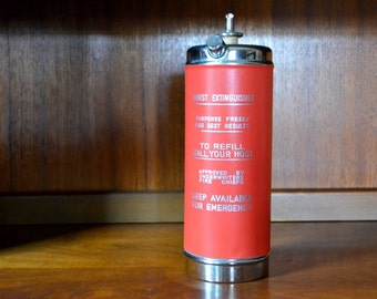 vintage fire extinguisher cocktail music box decanter / drink pitcher / valentines day gift
