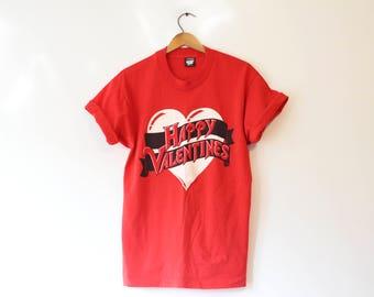 Vintage Happy Valentines Day Heart  T Shirt