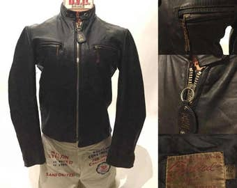 Vintage Racer Biker Motorcycle Leather Jacket (LJ-3)