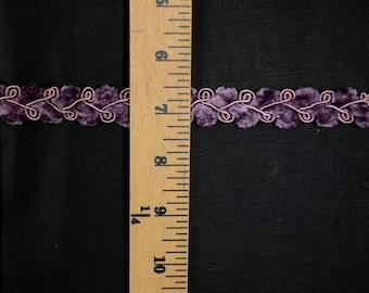 Purple Chenille Flat Braided Gimp Banding Trim