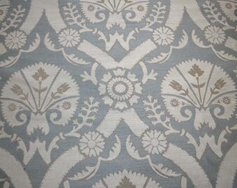 Contemporary Blue Grey Fabric REMNANT 55 inches x 1.5 yards