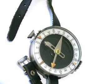 Vintage Soviet Compass Wrist Compass from Russia Soviet Union USSR