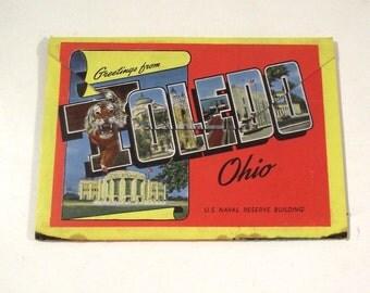 Toledo, Ohio Vintage Postcard Booklet, Souvenir Portfolio