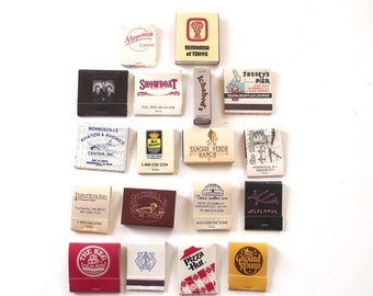 Lot of 18 Vintage Travel Themed Matchbooks with Matches (MB5)