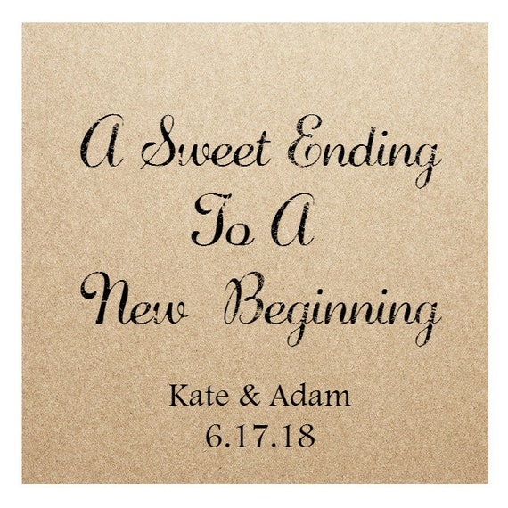 Kraft Wedding Sticker Labels - 2in x 2 in- Set of 20 blank or with custom printing